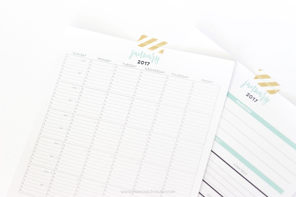 Simple Printable Calendar And Goal Planner