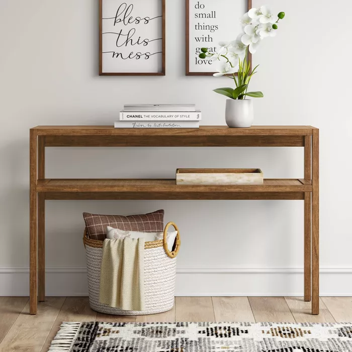 Warwick Narrow Console Table Brown Threshold In 2020 Narrow