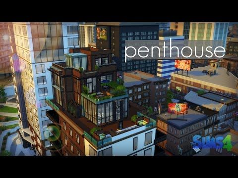 The sims 4 speed build 209 modern penthouse youtube