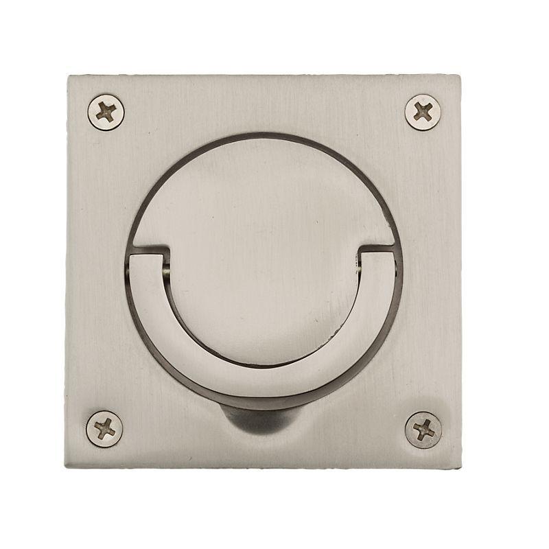 Baldwin 0397 Sol 3 1 2 Inch X 3 1 2 Inch Solid Brass Flush Ring Pull For Latches Satin Nickel Pocket Door Lock Flush Pull Ring Pocket Door Pulls Polished Brass Pocket Doors
