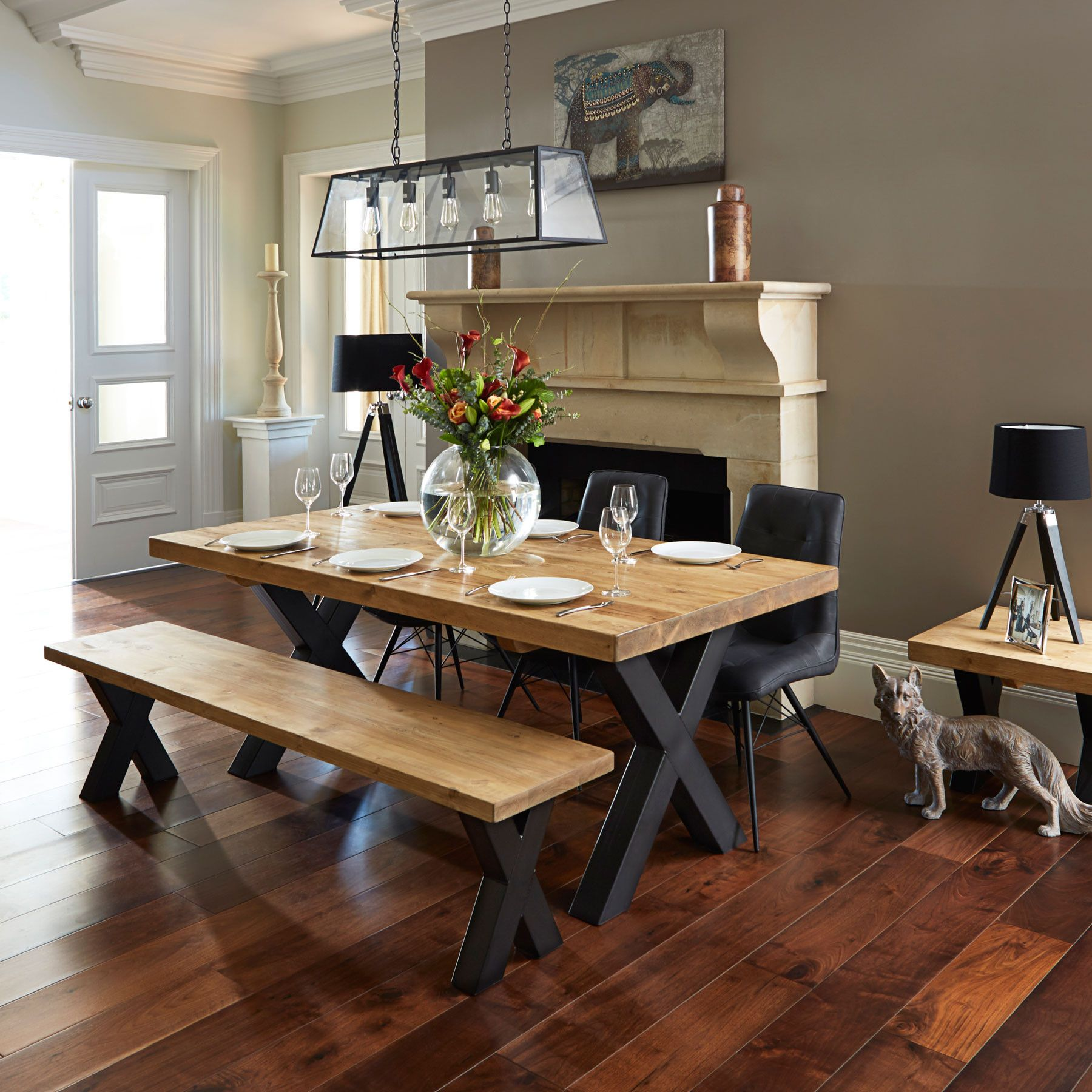 Timber Dining Tables And Chairs Ragana Reclaimed Timber Dining Table With Bench And 3 Dining