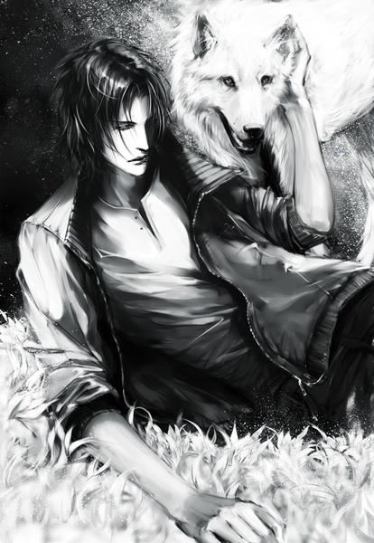 Anime picture wolfs rain studio bones kiba heleness single