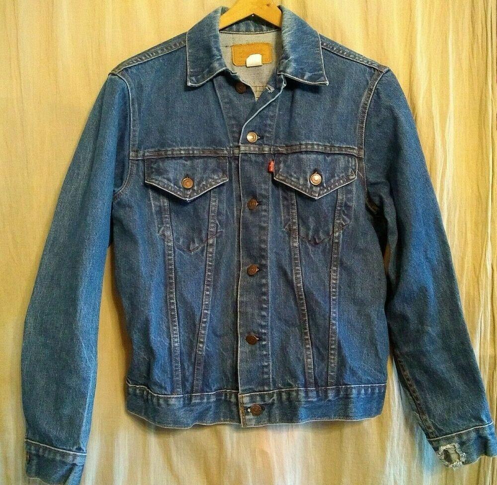 Usa Levis Jean Jacket 70505 0217 Mens Size 38 Hole Wear Blue Denim Vintage Levis Jeanjacket Casual In 2020 Vintage Clothing Men Levis Jean Jacket Levi