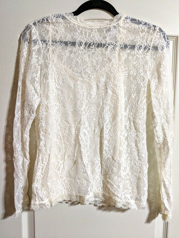 b80bad1cd281da Womens H M DIVIDED Lace Elegant Shirt Long Sleeve Vintage Blouse Tops Size  S  fashion  clothing  shoes  accessories  womensclothing  tops (ebay link)