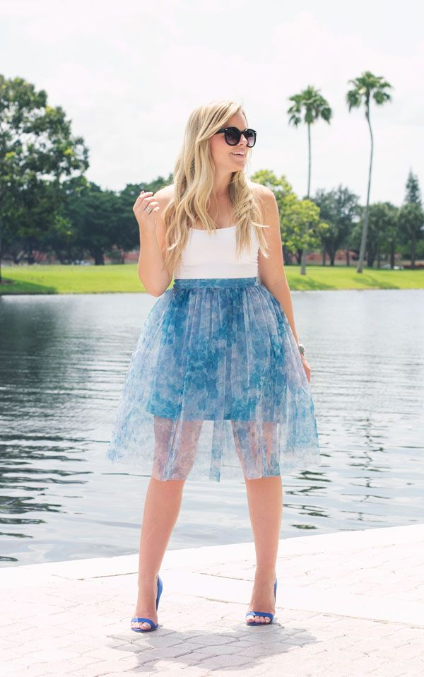 Charmant Blue Tulle | Living In Color Print