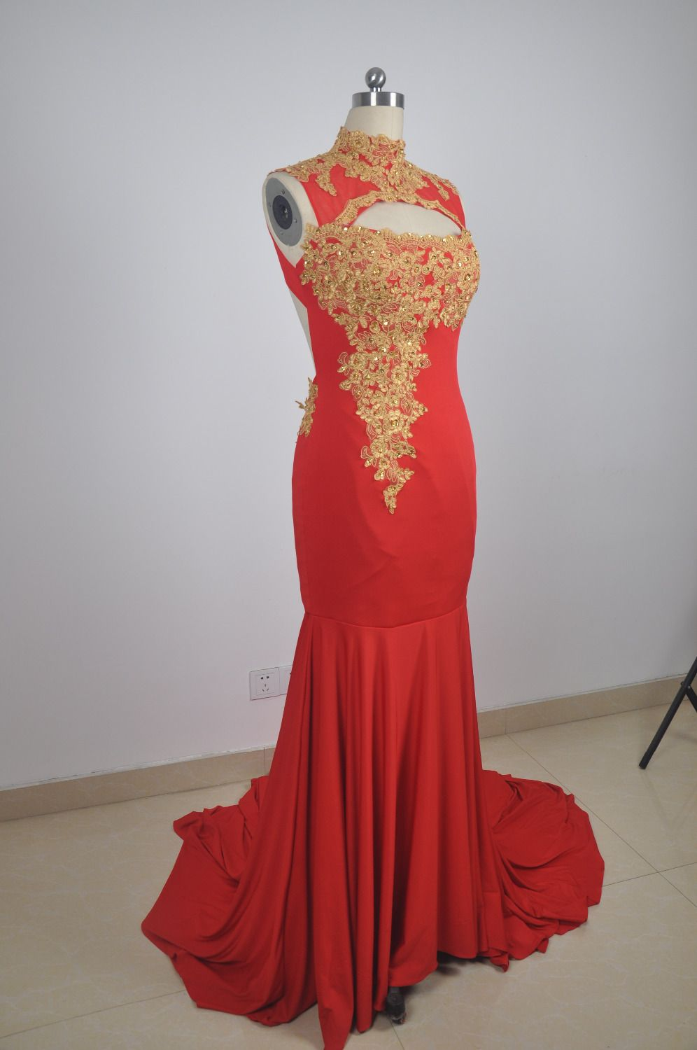 Click to buy ucuc sexy red prom dress mermaid cut dresses high