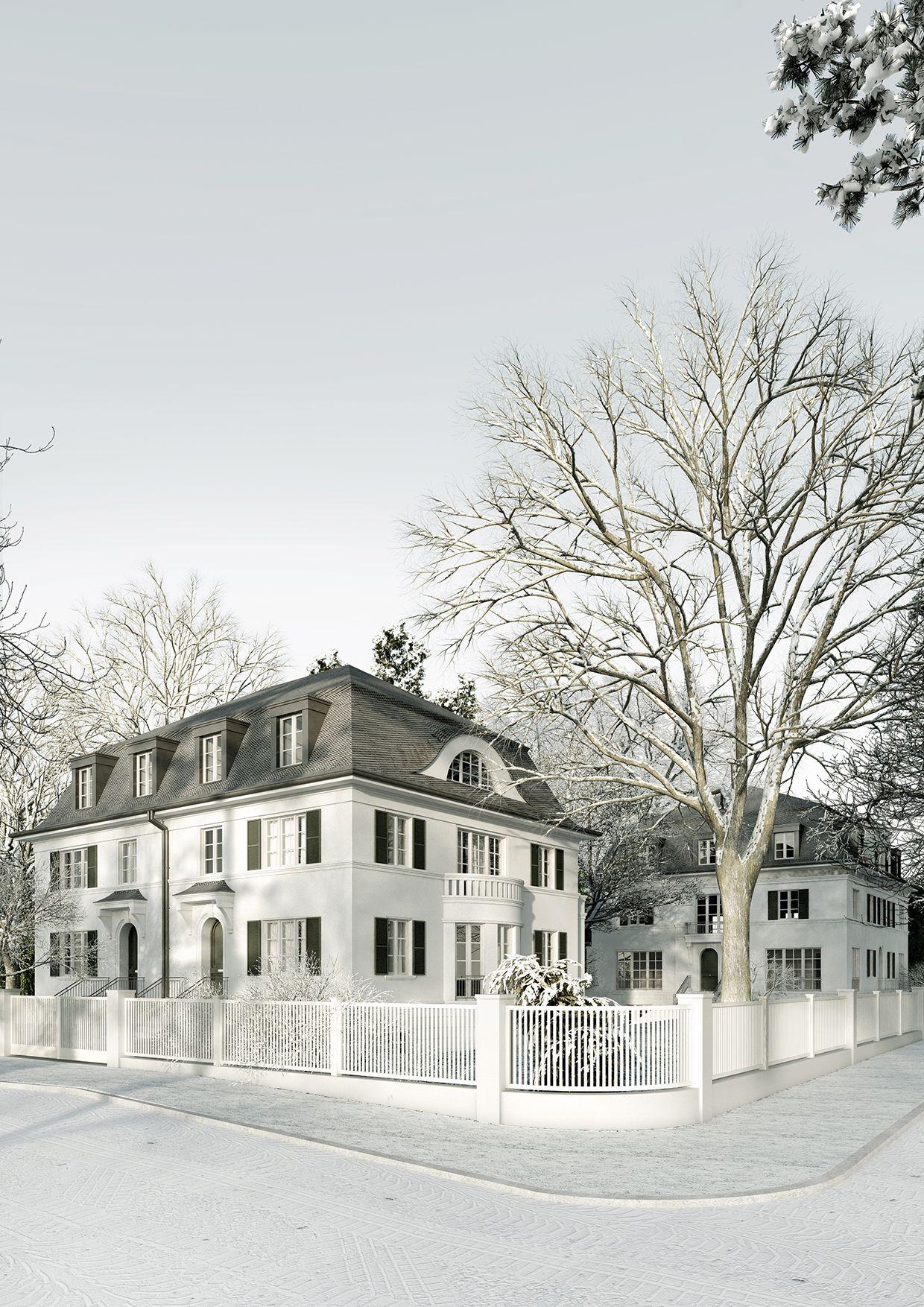Zwei villen in zehlendorf villa pinterest for Klassische villenarchitektur