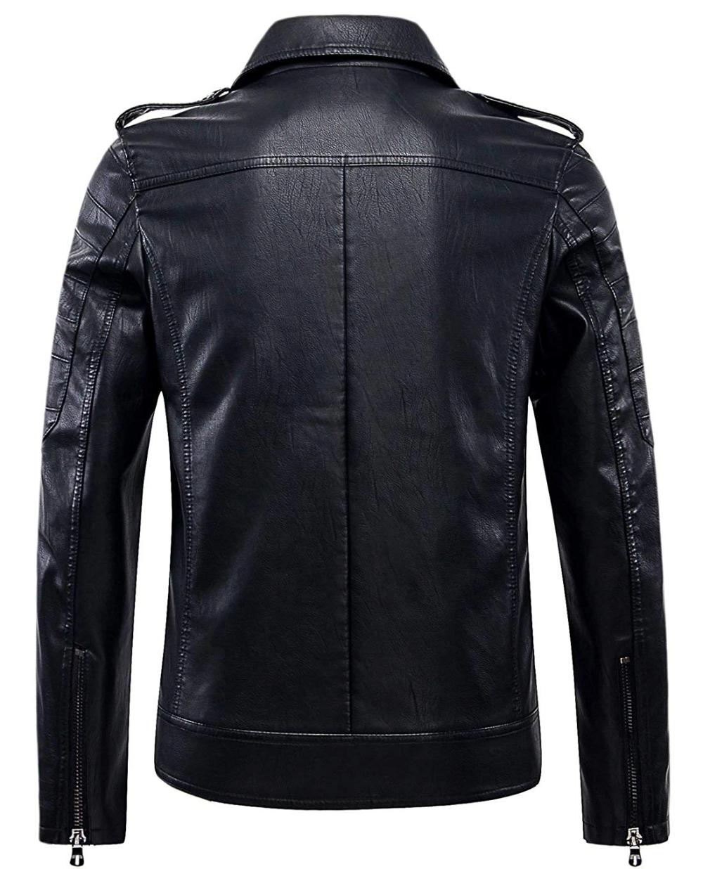 Men S Vintage Asymmetric Zip Lightweight Faux Leather Jacket Leather Jacket Leather Jacket Men Faux Leather Biker Jacket [ 1236 x 1000 Pixel ]