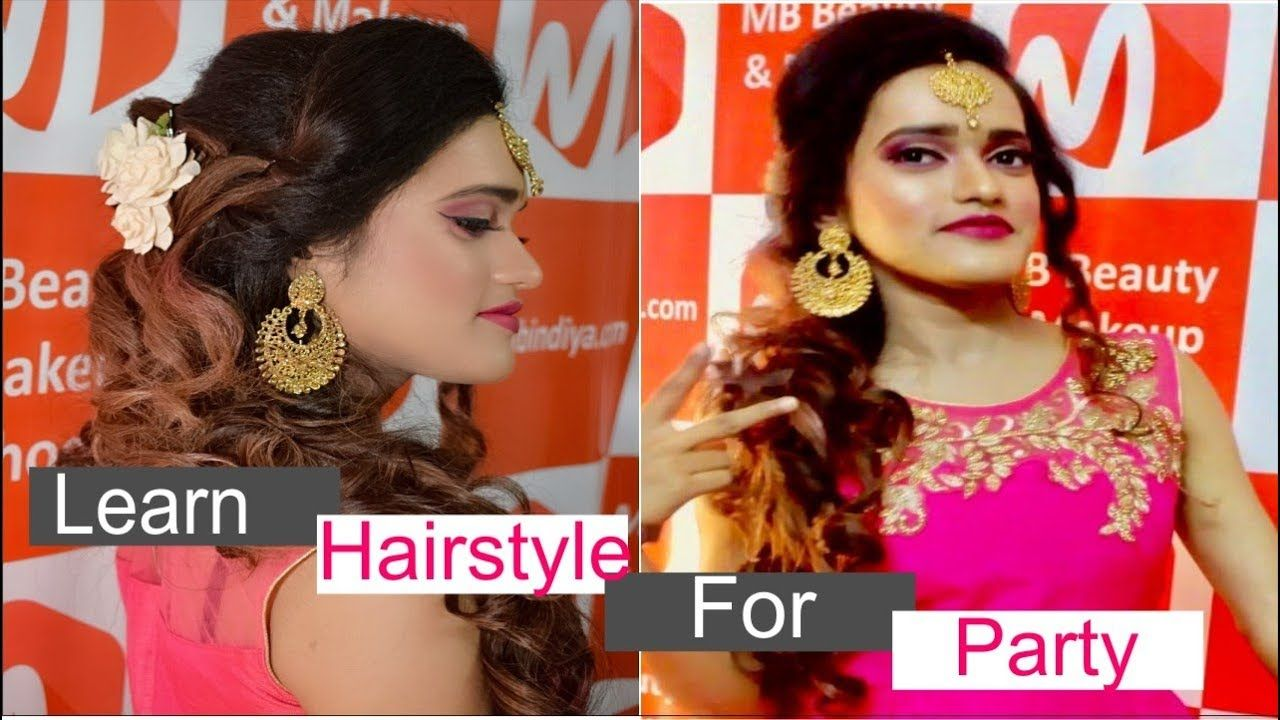 Learn Step By Step How To Create Normal Hair Styles For Party Makeup Party Hairstyles Course Hair Party Makeup