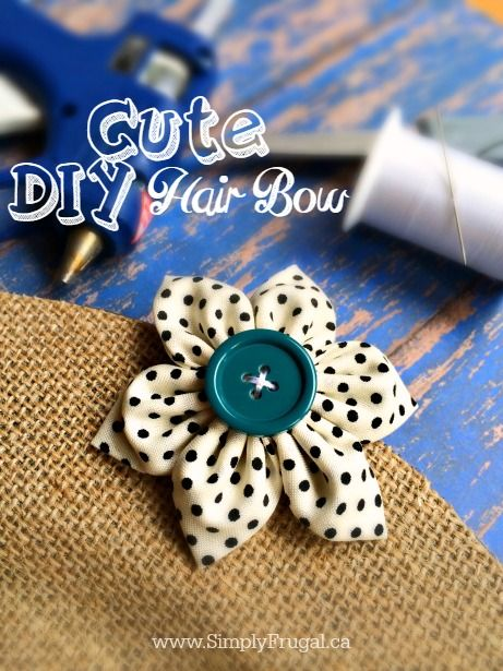 Super Cute DIY Hair Bows