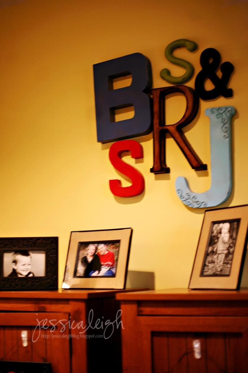 hang the first letter in each name of your family:) | Home Decor ...