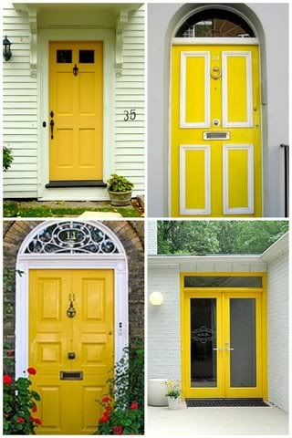 in love with the yellow door :)   new home ideas   pinterest