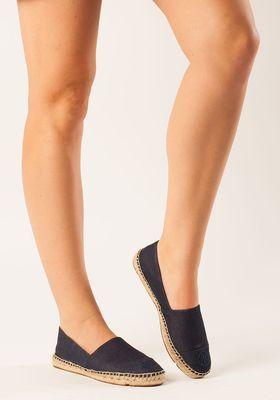 57ca15d8ad43 Tory Burch - Denim Flat Espadrille Navy Fabric - Jildor Shoes ...