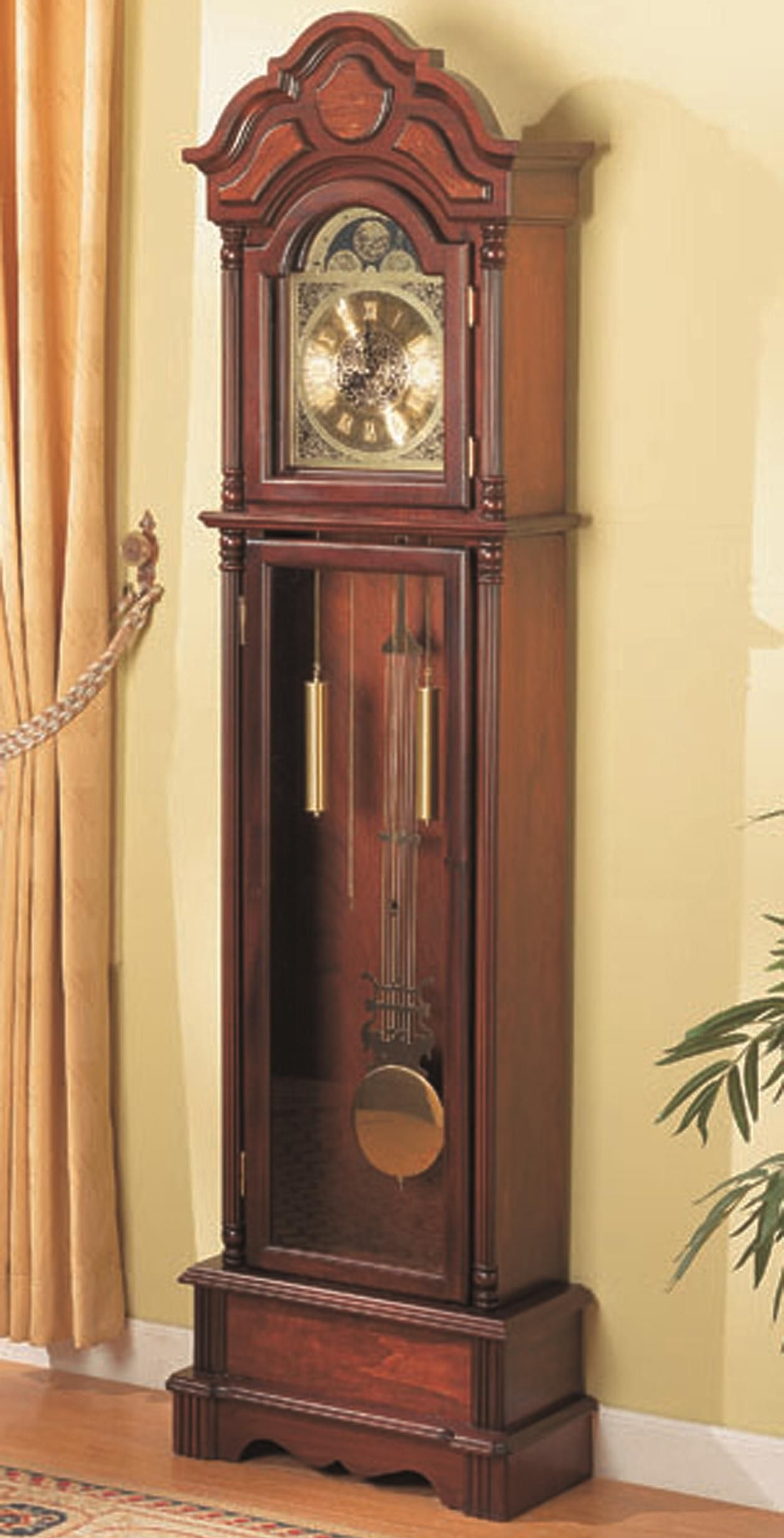Grandfather Clocks Traditional Brown Grandfather Clock