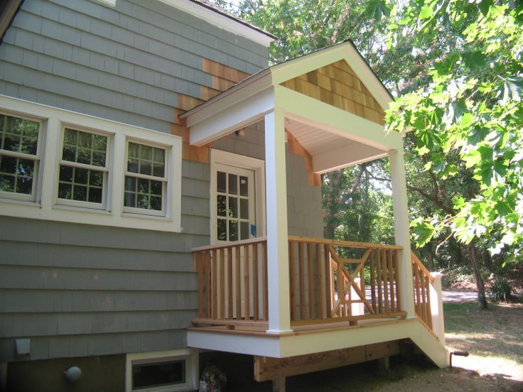 Porch Idea For Side Entrance Looks Fairly Easy To Do