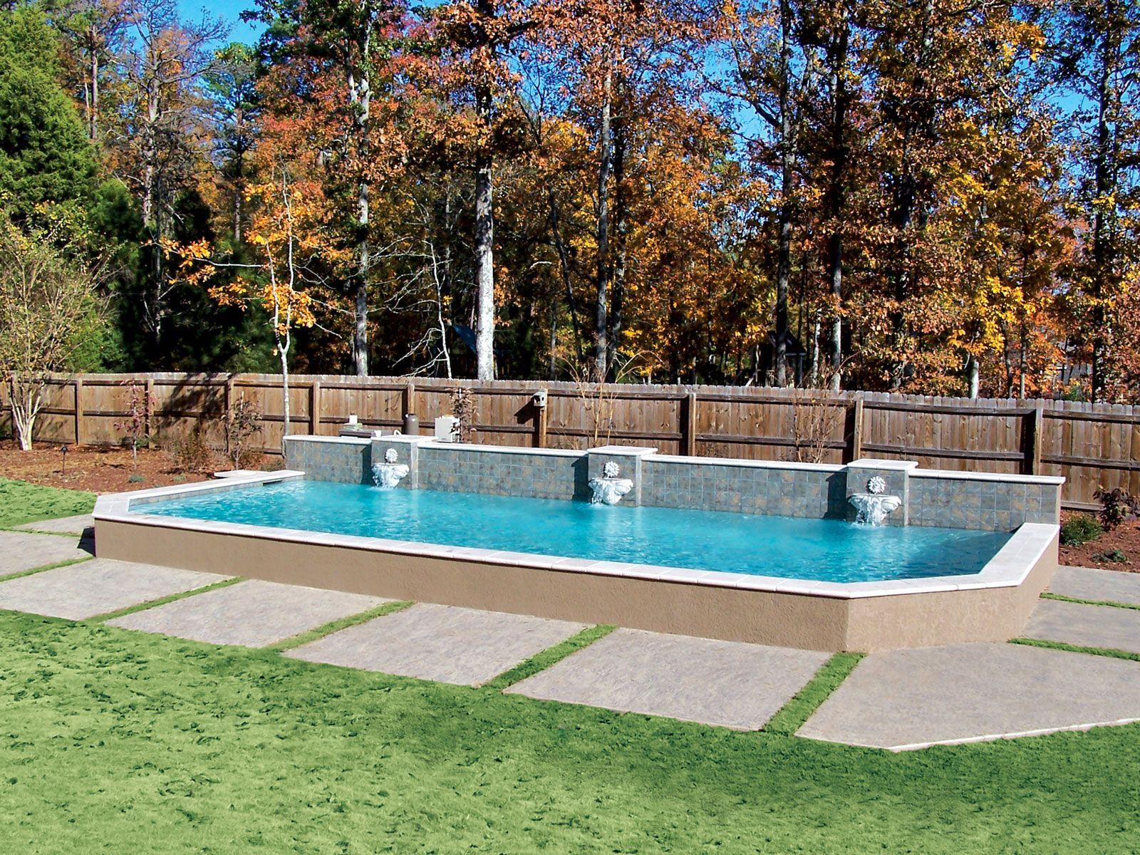 Grecian Pool built by Blue Haven Pools Atlanta.
