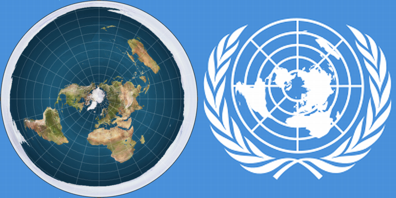 Flat Earth Map Un UN Flag and Flat Earth Map (With images) | Flat earth, Flat earth