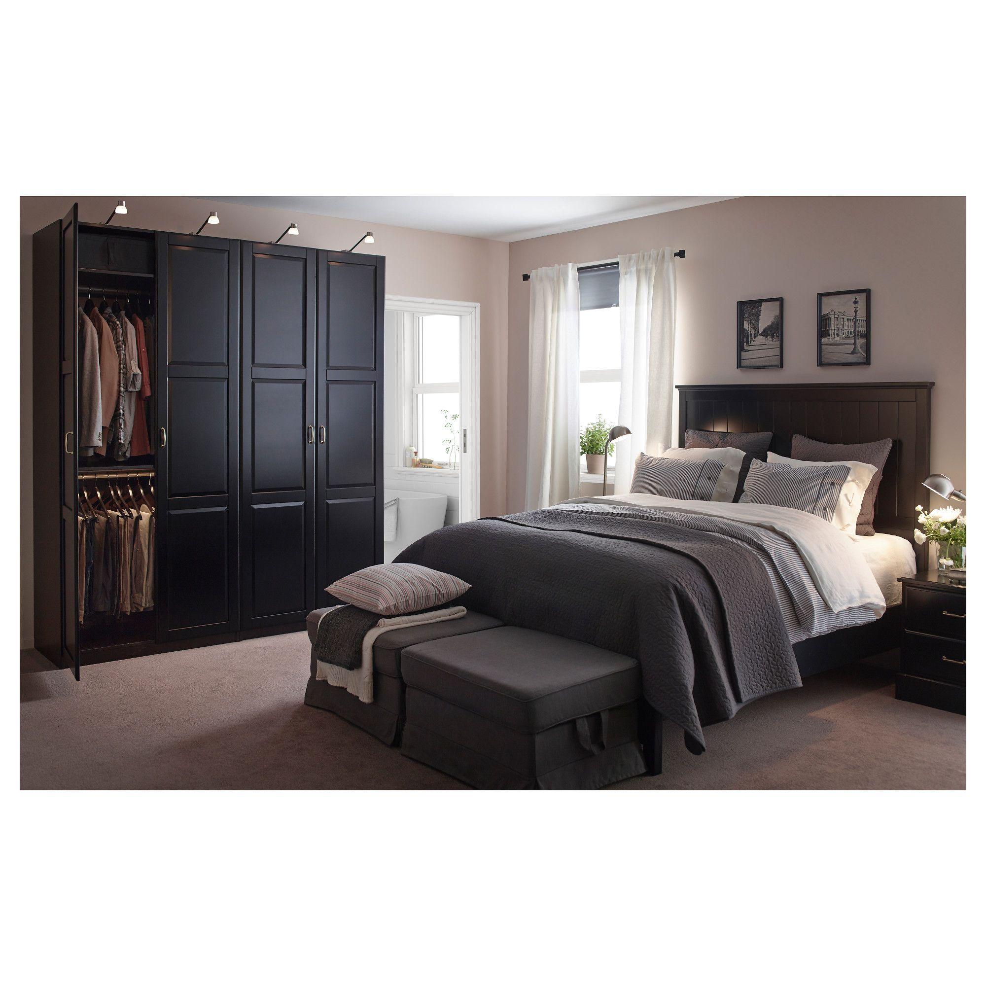 undredal bed frame black lönset bed frames bedrooms and ikea