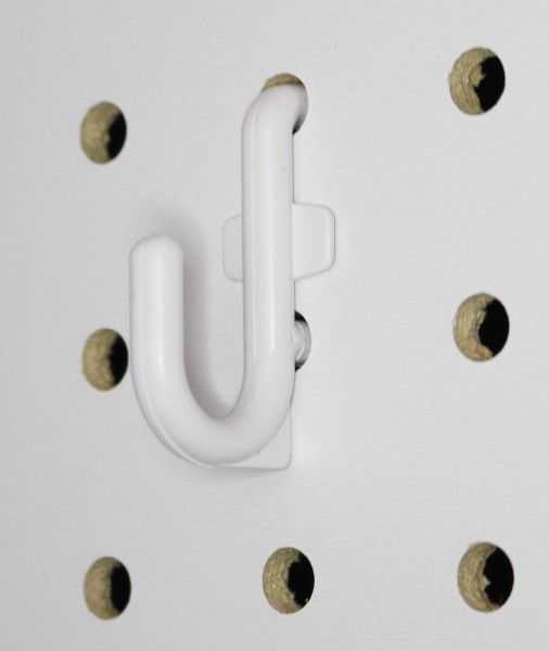 Plastic White Board J Hook Lanyards Leftover White Pegboard From 2017 Works With 1 4 Inch Pegboard 50 Pack Garage Wall Organizer Peg Board Hooks Peg Board