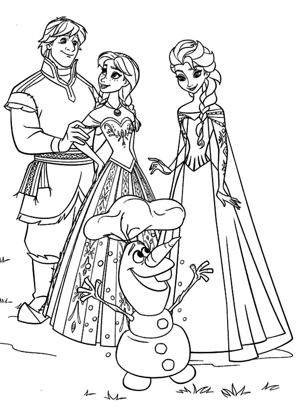 Pin Auf Elsa Coloring Pages