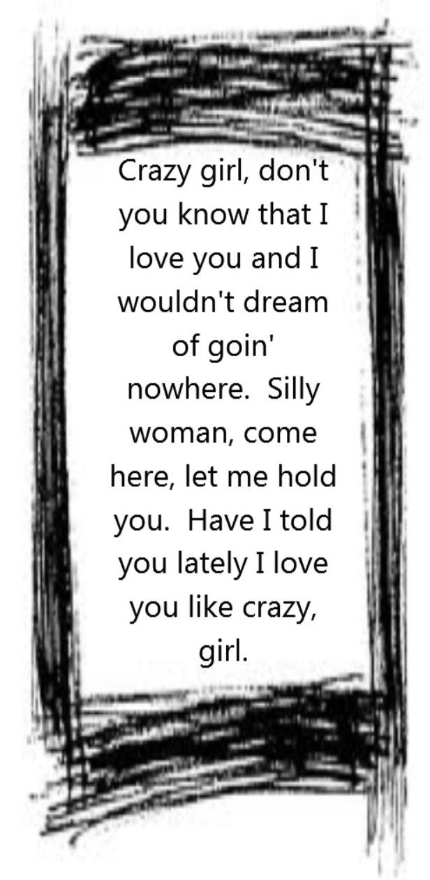 crazy woman song lyrics