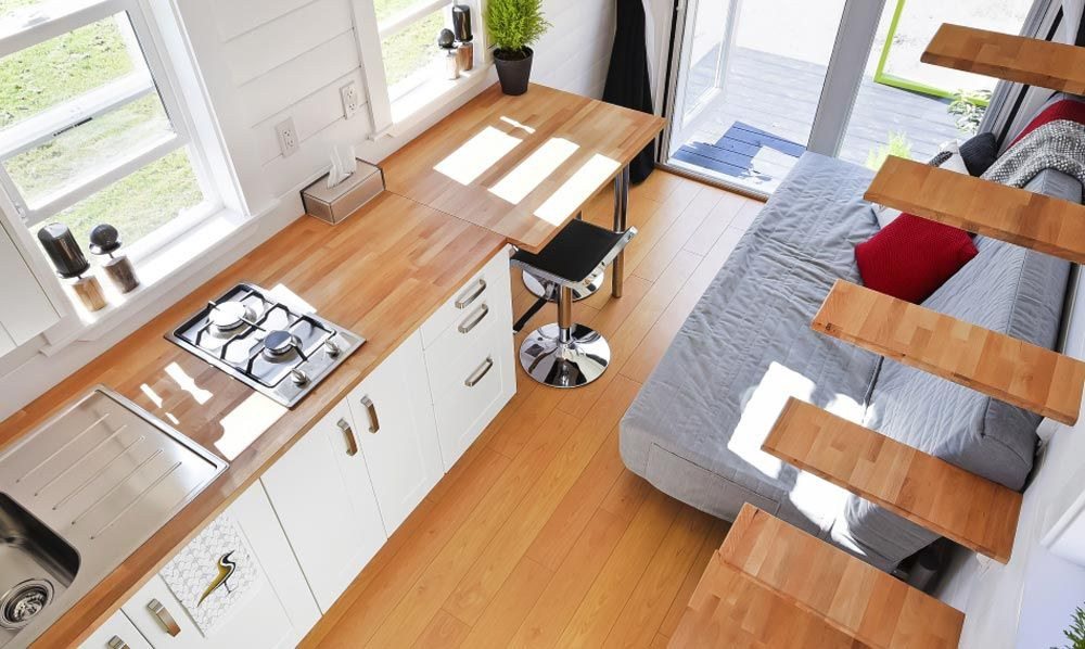 Kitchen & Living Room - Custom Tiny by Mint Tiny Homes