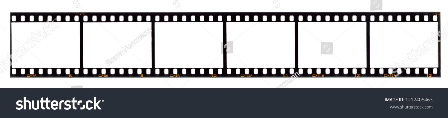 long film strip, blank photo frames, free space for your pictures