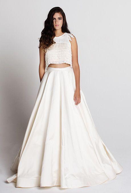 Crop Top | Vestidos de novia | Pinterest