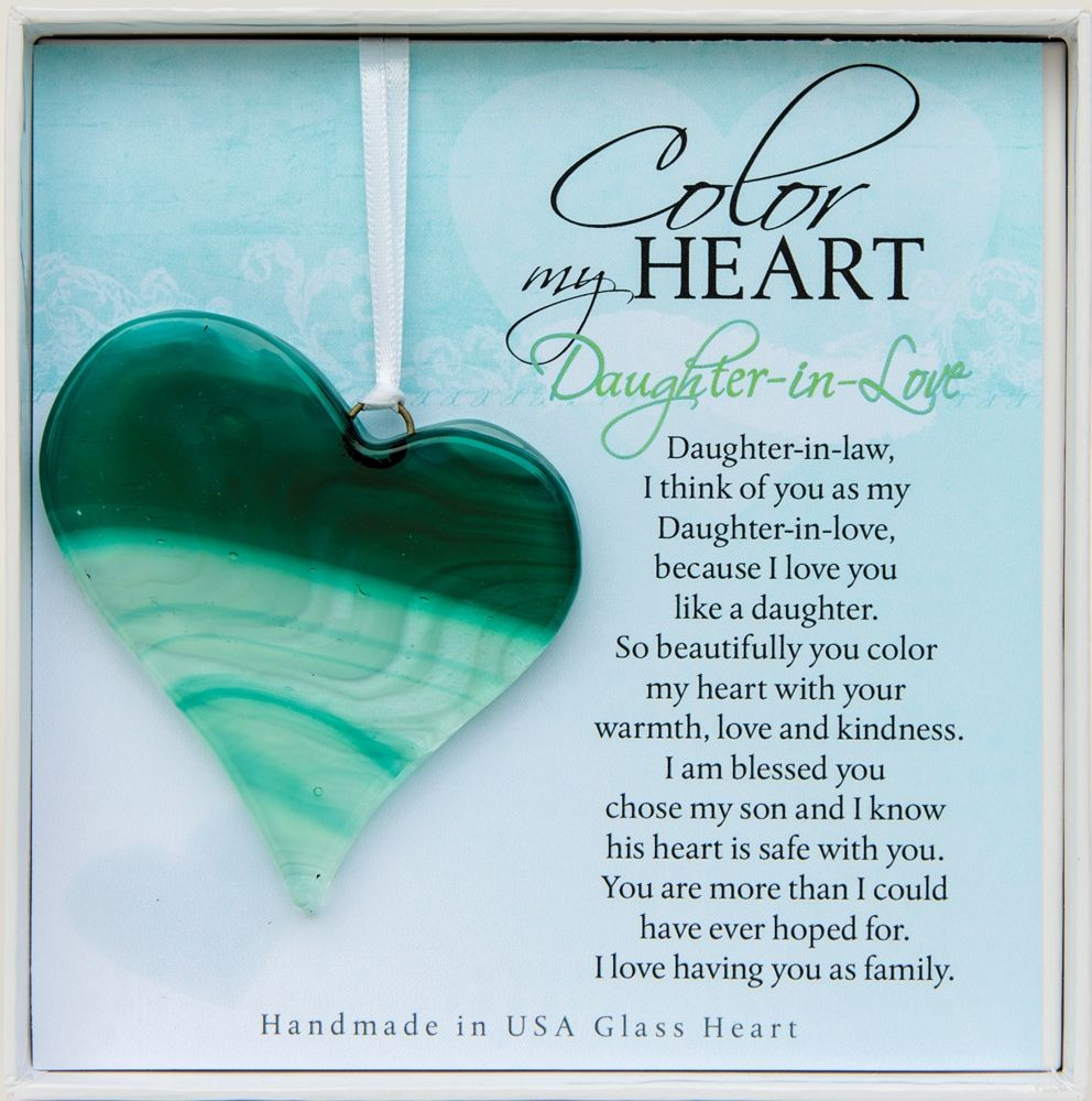 DaughterinLove Gift Handmade Glass Heart Daughter in