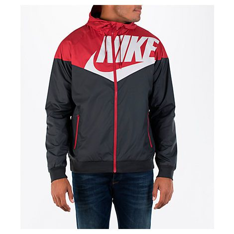 Nike windrunner jacket red black