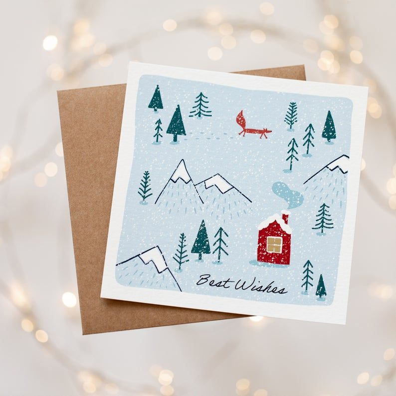 Set Of 6 Scandinavian Christmas Cards Hygge Holiday Handmade Cards Pack Holiday Card Set Holiday Cards Handmade Scandinavian Christmas