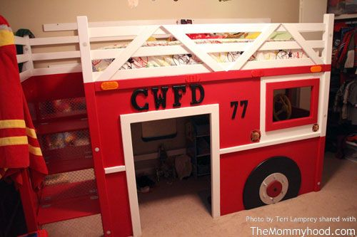 two grandpas build diy firetruck bunk bed | little kids rooms