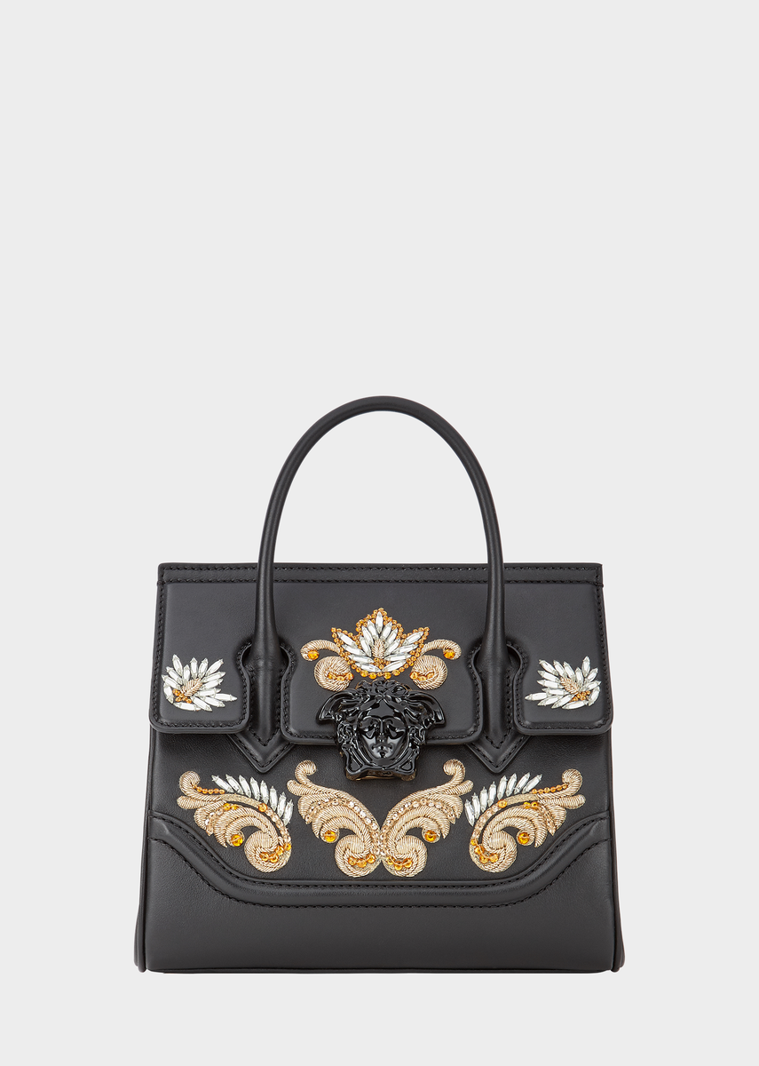 a91ca6e8033c Versace Embroidered Baroque Palazzo Bag for Women