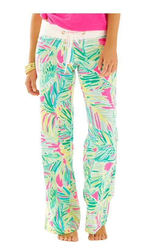 47d0ae2826 MUST GET these Lilly printed linen beach pants. Love the Pink Tropical  Storm pattern.