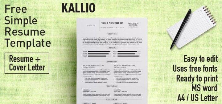 Kallio - Free simple resume template for Microsoft Word (DOCX - resume template docx