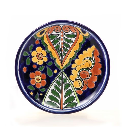 This hand painted decorative plate is a beautiful ex&le of Mexican Talavera ceramics. This lovely piece of Mexican Talavera pottery will add Mexican decor ...  sc 1 st  Pinterest & MXPL-0108-2.jpg (500×500) | HAND PAINTED PLATTERS | Pinterest ...