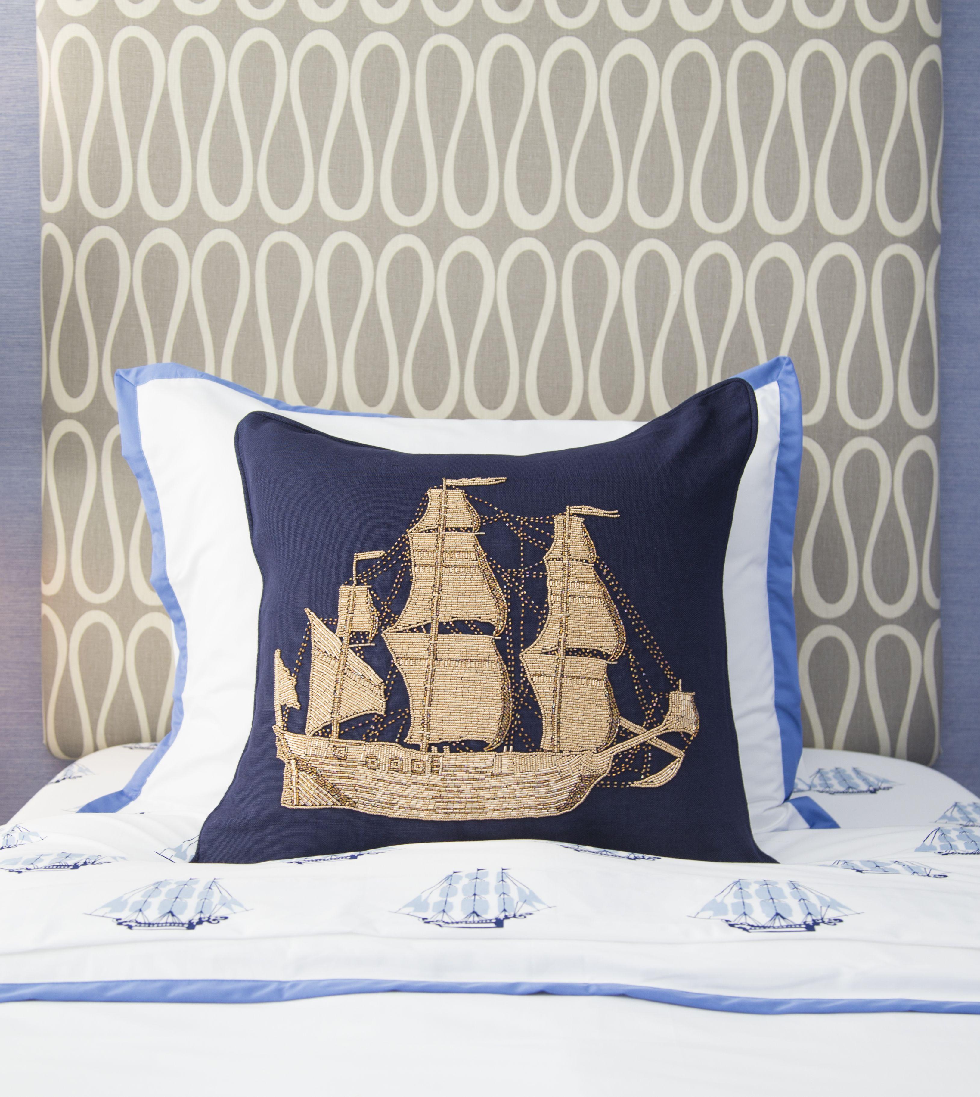 Jonathan Adler Aquatica Ship Throw Pillow At 70 Charlton Pillows Throw Pillows Jonathan Adler
