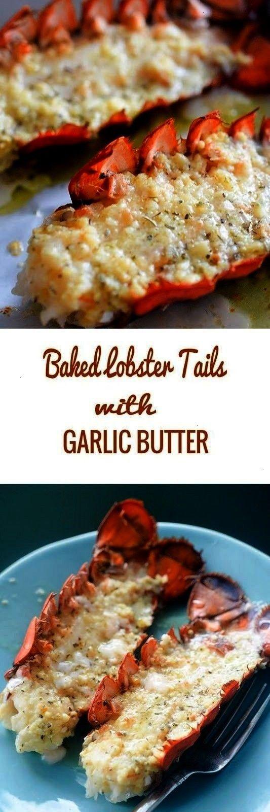 With Garlic Butter | Baked lobster taìls – luscìous lobster taìls coated ìn garlìc, butter,