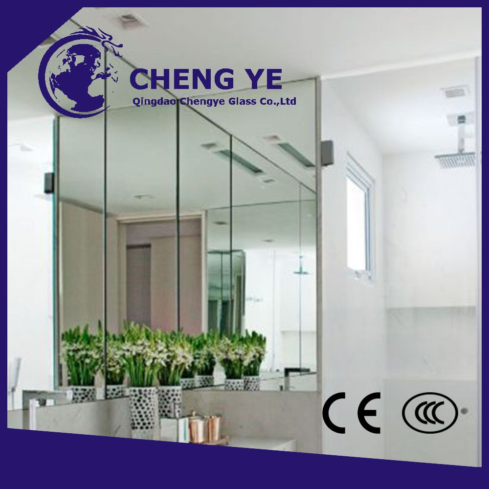 Aluminum Mirror Sheet Is Produced Through Vacuum Coating Let The Melt Aluminum Splash On The Surface Of Clean Quality Float Glass Building Mirror Glass Mirror