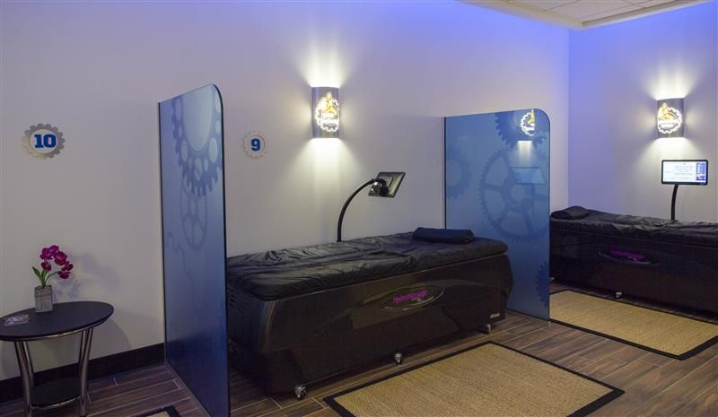 Hydromassage zone in a fitness club fitness club home
