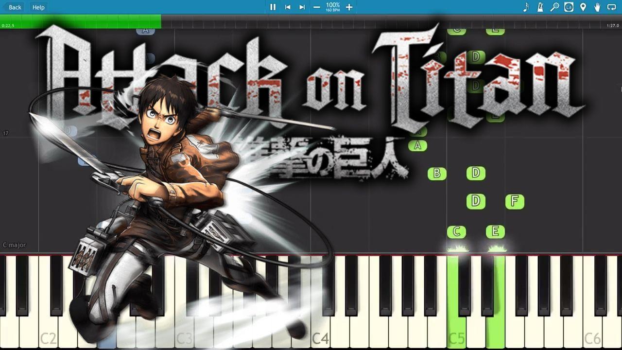 Attack On Titan Season 2 OP - Piano Tutorial / Cover - Shinzou wo Sasageyou | Attack on titan season