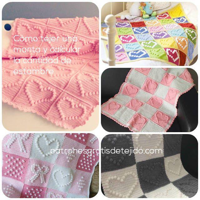 motivos de mantas de corazones con ganchillo | Mantas a Crochet ...