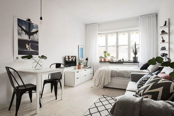 13 Best Minimalist And Simple One Room Apartment Ideas Minimalist Living Room Apartm Small Apartment Bedrooms Small Apartment Interior Apartment Living Room
