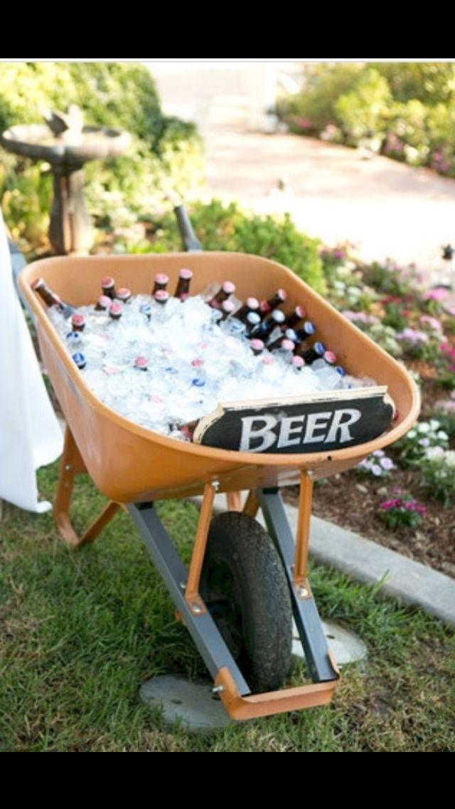 Cute idea for back yard wedding Or housewarming party with ...