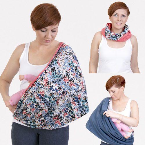 2 in 1  Breastfeeding Cover Nursing shawl scarf  Nursing Cover Sling