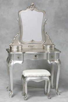 silver painted furniture. I Never Would Have Thought Of Painting Metallic, But LOVE!!!!   For The Home Pinterest Vanities And Paint Furniture Silver Painted