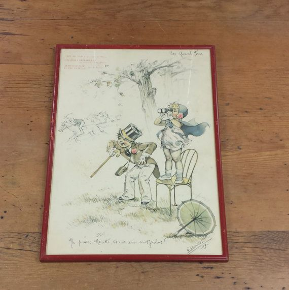 Germaine Bouret Signed French Menu ~ Au Grand Prix ~ Horse Racing