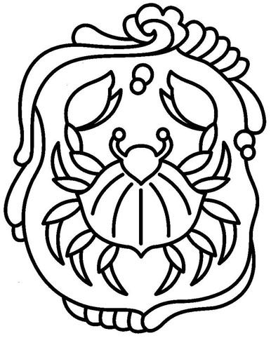 Zodiac (Cancer) coloring page | filigranok - sablonok | Pinterest ...