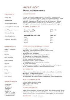 Dental Student Resume Dental Student Resume  Httpwww.resumecareerdentalstudent .