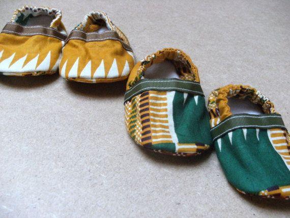 African Kente Print Baby Booties